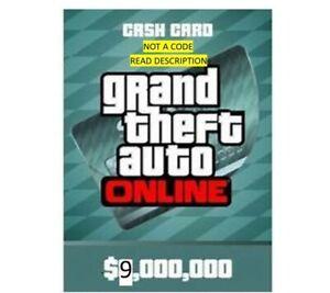GTA 5 V ONLINE MEGALODON SHARK CASH CARD (Xbox) $9,000,000 GTA MONEY IN 2 HRS
