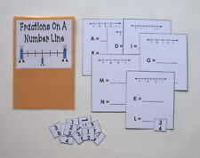 Teacher Made Math Center Learning Resource Game Fractions On A Number Line