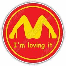 "I'm Loving It Sex Girls Funny Car Bumper Window Vinyl Sticker Decal 4.6""X4.6"""