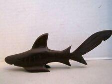"""Vintage Carved Wooden Shark Ironwood Fish Polished Sculpture 6-3/4"""" long"""