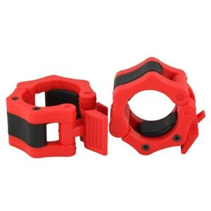 """Q Sports 2"""" Olympic Weight Bar Clamp Collars 50mm Bar Lock Jaw Collar Clips"""