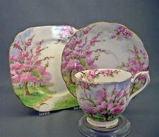 Royal Albert England BLOSSOM TIME Bone China Tea Cup & Saucer & Plate Trio Set