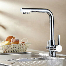 Kitchen Direct Drinking Water Sink Faucet Dual-purpose Swivel Spout Cold Hot Tap