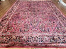 9' X 12' Antique KARASTAN #700 Red Sarouk  # 755 Wool RUG  Beauty