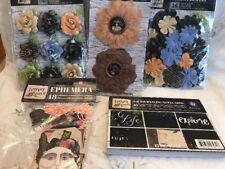 Prima FOREVER GREEN flowers &Asst , Paper & Embellishment Lot.  Album Or Folio!