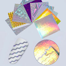 11 Sheets Holo 3D Nail Stickers Wave Line Nail Foil Candy Decals DIY Born Pretty