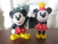 Vintage Disney Mickey Minnie Mouse PVC FIGURES Set 2 CLASSIC CARTOON applause