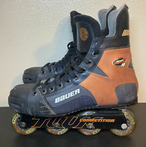 Bauer Breakout 50 Roller Blades Hockey Inline Skates Tuuk Competition Size 12
