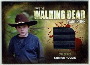 The Walking Dead Season 2 Wardrobe Card M18 Carl Grimes Striped Hoodie