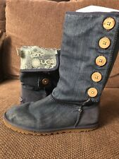 Genuine Ugg Australia Boots - Denim Look Size 5.5 Uk 38eu