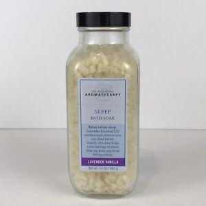 Bath & Body Works Aromatherapy Sleep Lavender Vanilla Bath Soak Salts 17oz Unsea