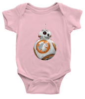 Infant Baby Boy Girl Rib Bodysuit Baby shower Gift Clothes Star Wars BB-8 Cute