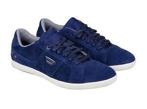DIESEL Y00985 PR047 T6067 GOTCHA Mn's (M) Indigo Blue Suede Casual Shoes