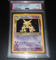 PSA 9 MINT Alakazam 1/130 Base Set 2 HOLO RARE Pokemon Card