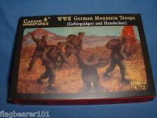 CAESAR SET #67 WWII GERMAN MOUNTAIN TROOPS - 1/72 SCALE UNPAINTED FIGS X 45