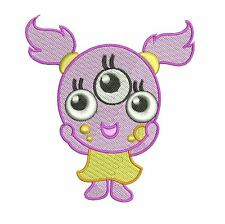 BABY GIRLY MONSTERS - 10 MACHINE EMBROIDERY DESIGNS - 3 SIZES - IMPCD94