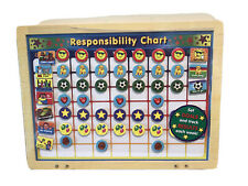 Melissa And Doug Magnetic Responsibility and Chore Chart Developmental Toy New