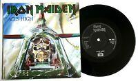 """EX/EX IRON MAIDEN 1985 ACES HIGH 7"""" VINYL 45 (EMI 5502)"""