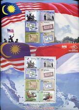 Indonesien und Malaysia 2011 Freundschaft Gemeinschaftsausgabe Flaggen Flags MNH