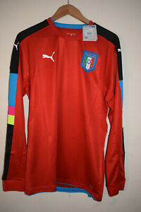 New Italy L/S Player Issue red GoalKeeper Shirt Jersey 2016/17 BNWT Puma Large