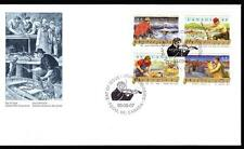Canada 1993 FDC sc# 1491-1494 Canadian Folklore-4, block of 4