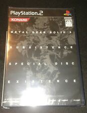 METAL GEAR SOLID 3 SUBSISTENCE LIMITED EDITION JP SEALED EXISTENCE