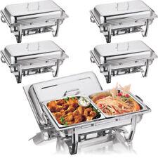 Quattro x in acciaio inox piatto sfregamenti grandi TWIN PAN RETINATO più caldo caldo cuocere