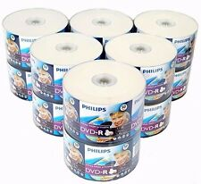 600 PHILIPS 16X Blank DVD-R DVDR White Inkjet Printable 4.7GB Disc EXPEDITED