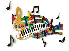 Music Wall Art - Unique Abstract Music Notes & Piano Keys Wall Sculpture - Art69