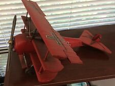"Red Baron Metal Model / 15"" / Iron Cross / Sopwith Camel"