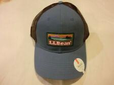 "L.L. Bean ""Logo Motif"" Snapback Mesh Trucker Hat (Ball Cap), NWT - Rangeley Blue"