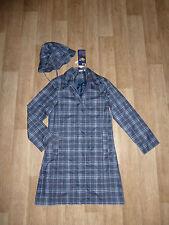 BLUE MOTION Regenmantel + Regenmütze Kariert Gr.34 / XS **NEU** (T2)