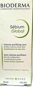 Bioderma Sebium Global  1 FL Oz Intense Purifying Care EXP 2022 NEW IN BOX