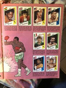 1987 Supersport Panini Album Boxing Mike Tyson Rookie RC Card Sticker Rare