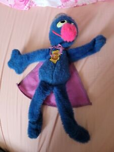 Vintage Grover Plush Stuffed Animal Sesame Street Knickerbocker