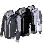 Men's COAT Fit Slim Stand Collar Coat Jacket Zip Button multi-layered Overcoat