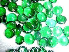 24 LBS PERIWINKLE FLAT GLASS MARBLES GEMS VASE FILLERS MOSAIC TILES $31.88!!