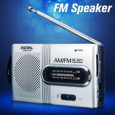 Portable Pocket AM/FM Radio World Receiver Telescopic Antenna Built in speaker