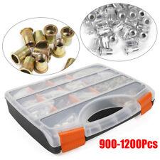 900 1200pcs Stainless Steel Threaded Nut Rivet Tool Riveter Rivnut Rivets M3 M12