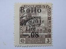 VECCHIA MARCA DA BOLLO posta Fiume 1918 SOVRASTAMPA lire 5  08