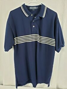 Ralph Lauren Polo Golf Dark Blue Polo Shirt Size Large