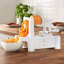 3 Blade Vegetable Spiralizer Chopper & Fruit Twister Spiral Slicer Cutter Peeler
