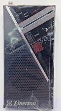 Vintage Emerson AM/FM Battery Transistor Pocket Radio P3761 Brand New in Plastic