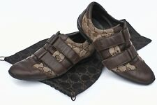 Gucci Guccissima shoes Leather canvas brown GG Monogram sneakers S.35 + dust bag