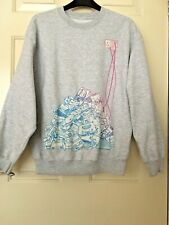 MEN'S GREY MARL LONG SLEEVE SWEATSHIRT ARTIST HANTU GRAPHIC SIZE SMALL