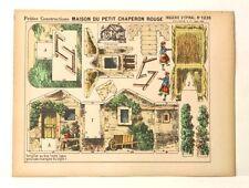 Pellerin Imagerie D'Epinal #1239 Construction Maison due Petite Chaperon Rouge