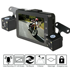 3'' 120° Waterproof Motorcycle Car Bike Dual Action Camera DVR Video Camcorder