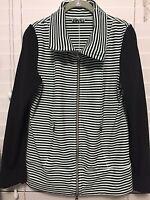 LULULEMON Sz 10 Daily Yoga Jacket Mint Moment Green Black Striped Full Front Zip