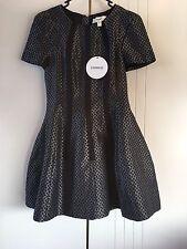 Womens Cameo The Label Black 'Star Of Wonder' Contrast Panel Jacquard Dress Sz S