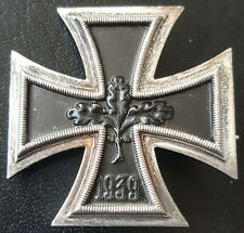 ✚8276✚ German Iron Cross First Class medal post WW2 1957 pattern maker: DEUMER